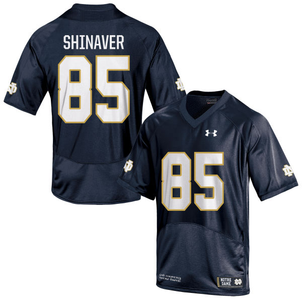 Men's Under Armour Arion Shinaver Notre Dame Fighting Irish Game Navy Blue Football Jersey