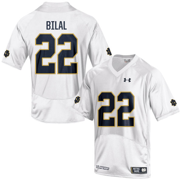 Men's Under Armour Asmar Bilal Notre Dame Fighting Irish Game White Football Jersey