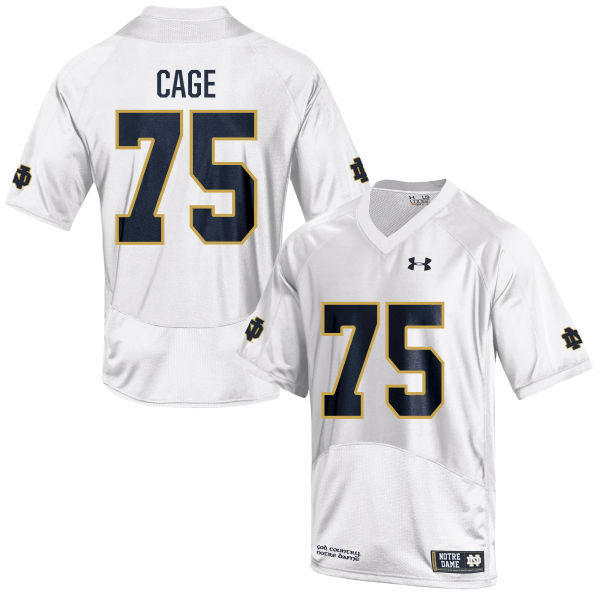 Youth Under Armour Daniel Cage Notre Dame Fighting Irish Game White Football Jersey