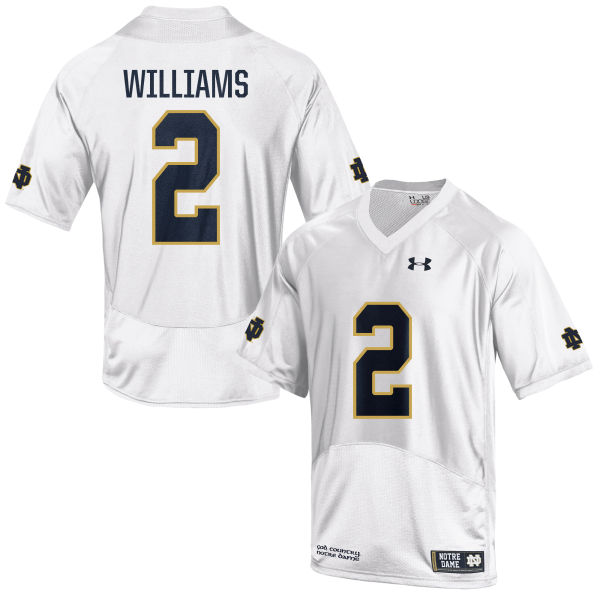 Youth Under Armour Dexter Williams Notre Dame Fighting Irish Game White Football Jersey
