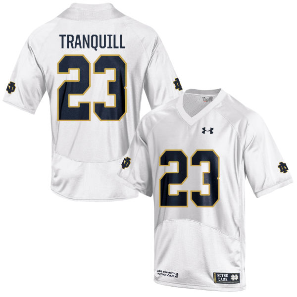 Youth Under Armour Drue Tranquill Notre Dame Fighting Irish Authentic White Football Jersey