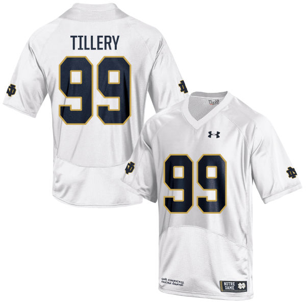 Women's Under Armour Jerry Tillery Notre Dame Fighting Irish Authentic White Football Jersey