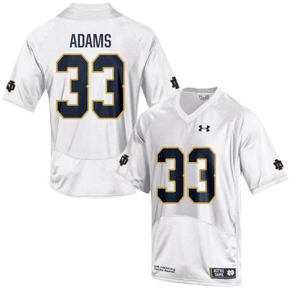 Men's Under Armour Josh Adams Notre Dame Fighting Irish Limited White Football Jersey
