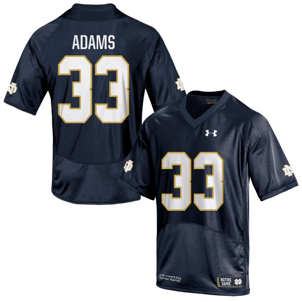 Youth Under Armour Josh Adams Notre Dame Fighting Irish Authentic Navy Blue Football Jersey