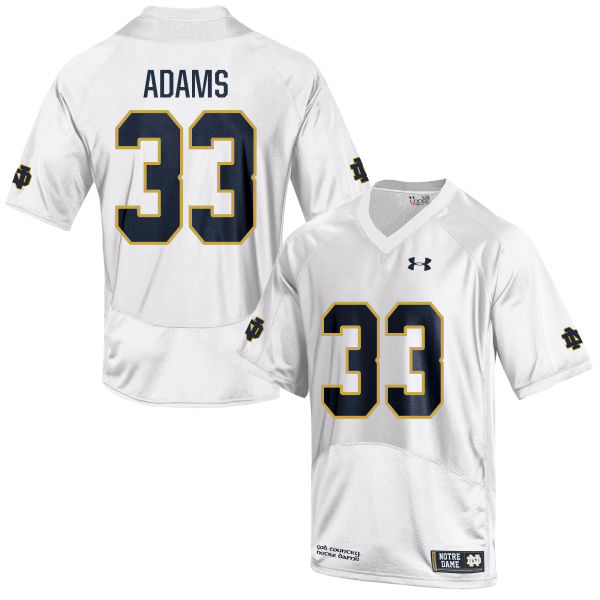 Youth Under Armour Josh Adams Notre Dame Fighting Irish Game White Football Jersey