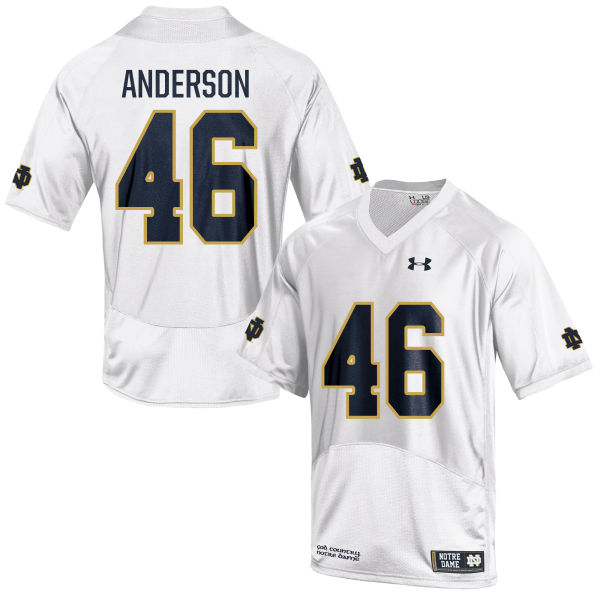 Youth Under Armour Josh Anderson Notre Dame Fighting Irish Game White Football Jersey