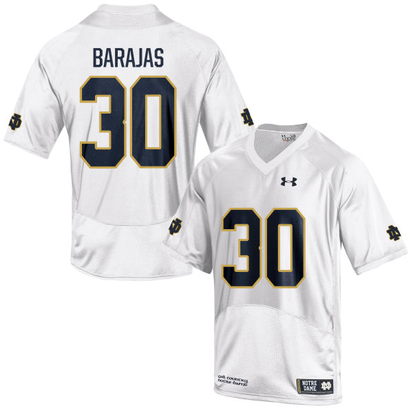Men's Under Armour Josh Barajas Notre Dame Fighting Irish Authentic White Football Jersey