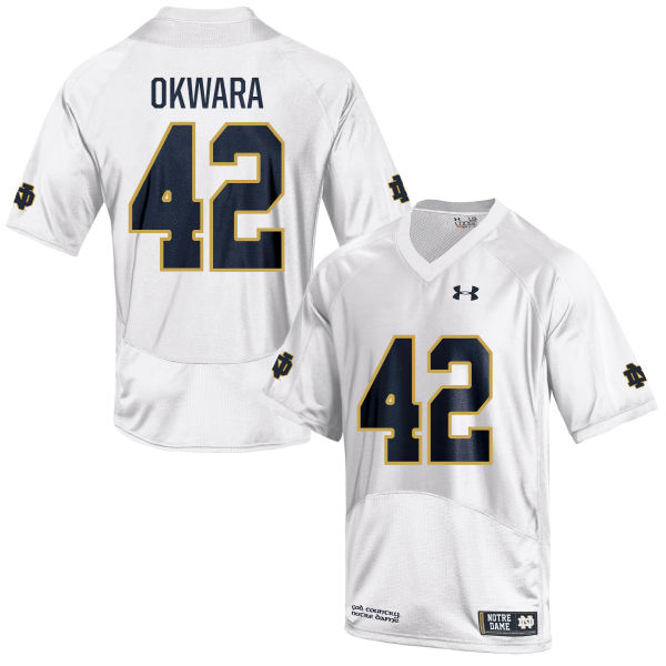Men's Under Armour Julian Okwara Notre Dame Fighting Irish Game White Football Jersey