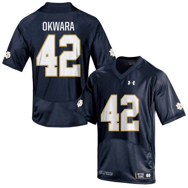 Women's Under Armour Julian Okwara Notre Dame Fighting Irish Authentic Navy Blue Football Jersey