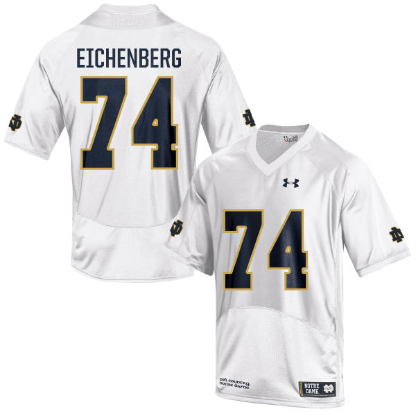 Youth Under Armour Liam Eichenberg Notre Dame Fighting Irish Game White Football Jersey