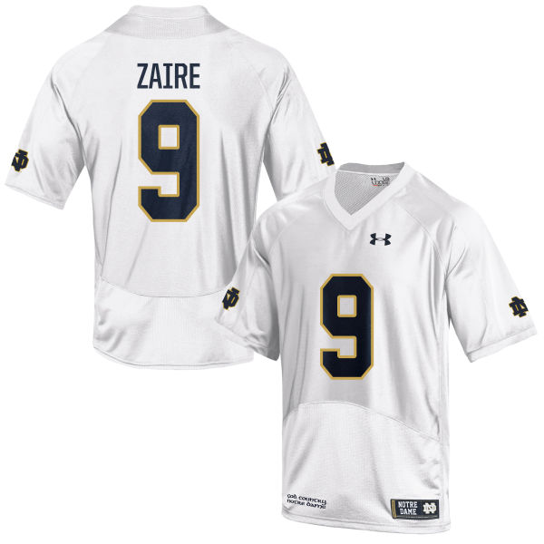 Men's Under Armour Malik Zaire Notre Dame Fighting Irish Game White Football Jersey