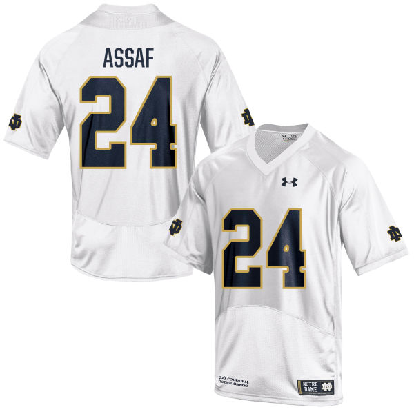 Men's Under Armour Mick Assaf Notre Dame Fighting Irish Authentic White Football Jersey