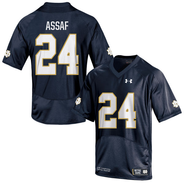 Youth Under Armour Mick Assaf Notre Dame Fighting Irish Authentic Navy Blue Football Jersey