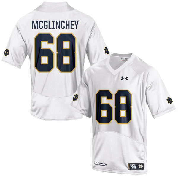 Youth Under Armour Mike McGlinchey Notre Dame Fighting Irish Game White Football Jersey