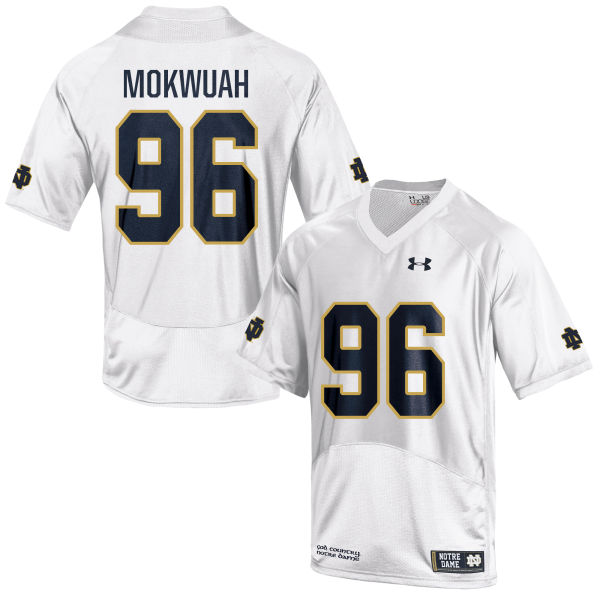 Youth Under Armour Pete Mokwuah Notre Dame Fighting Irish Game White Football Jersey