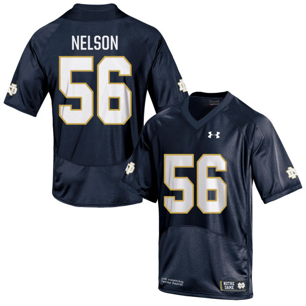 Women's Under Armour Quenton Nelson Notre Dame Fighting Irish Replica Navy Blue Football Jersey