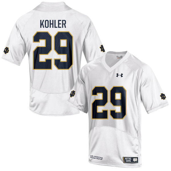 Youth Under Armour Sam Kohler Notre Dame Fighting Irish Game White Football Jersey
