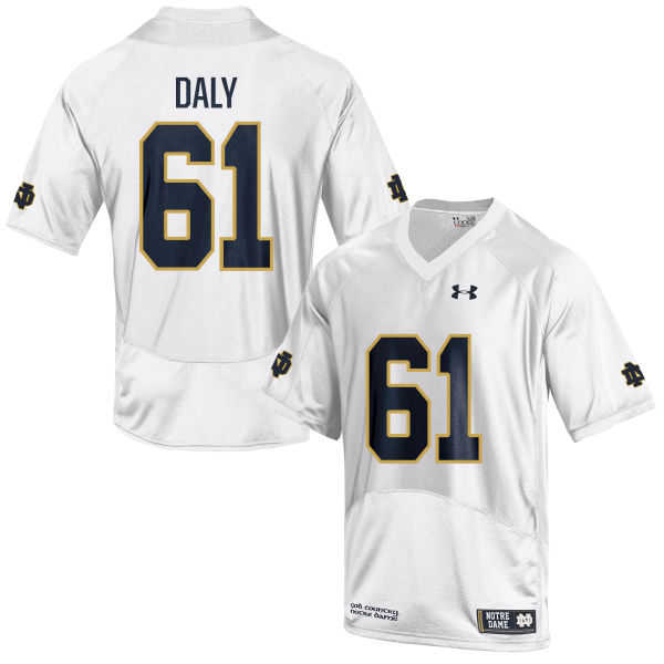 Youth Under Armour Scott Daly Notre Dame Fighting Irish Authentic White Football Jersey