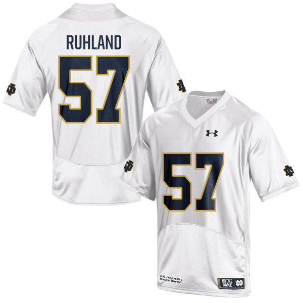 Youth Under Armour Trevor Ruhland Notre Dame Fighting Irish Game White Football Jersey