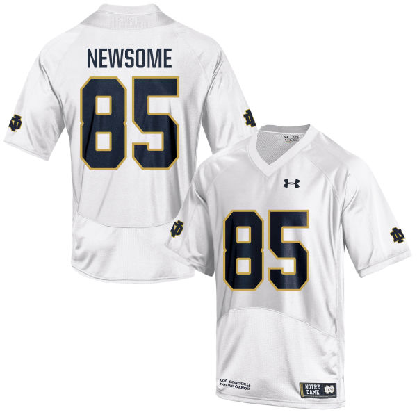 Men's Under Armour Tyler Newsome Notre Dame Fighting Irish Game White Football Jersey