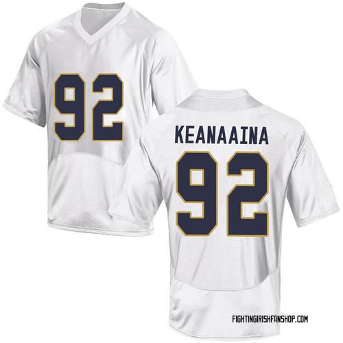 Men's Under Armour Aidan Keanaaina Notre Dame Fighting Irish Game White Football College Jersey