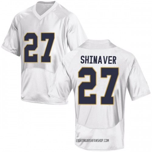 Men's Under Armour Arion Shinaver Notre Dame Fighting Irish Game White Football College Jersey