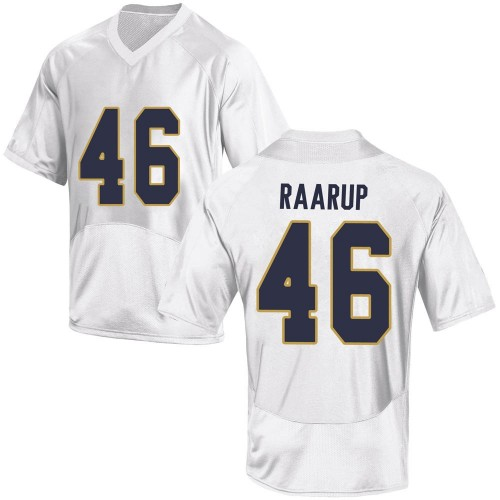 Men's Under Armour Axel Raarup Notre Dame Fighting Irish Game White Football College Jersey
