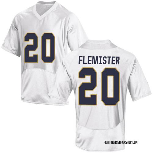 Men's Under Armour C'Bo Flemister Notre Dame Fighting Irish Game White Football College Jersey
