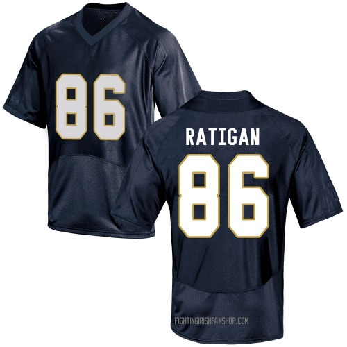 Men's Under Armour Conor Ratigan Notre Dame Fighting Irish Game Navy Blue Football College Jersey
