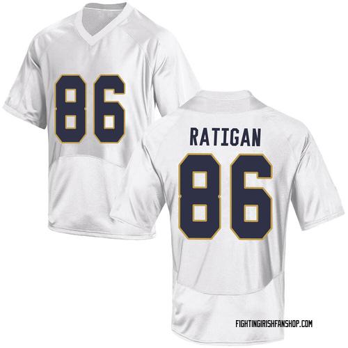 Men's Under Armour Conor Ratigan Notre Dame Fighting Irish Replica White Football College Jersey
