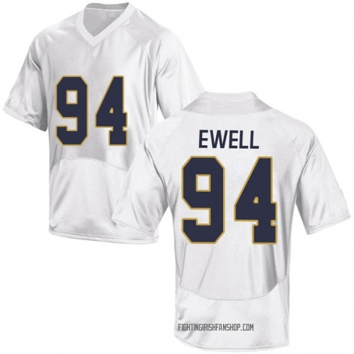 Men's Under Armour Darnell Ewell Notre Dame Fighting Irish Game White Football College Jersey