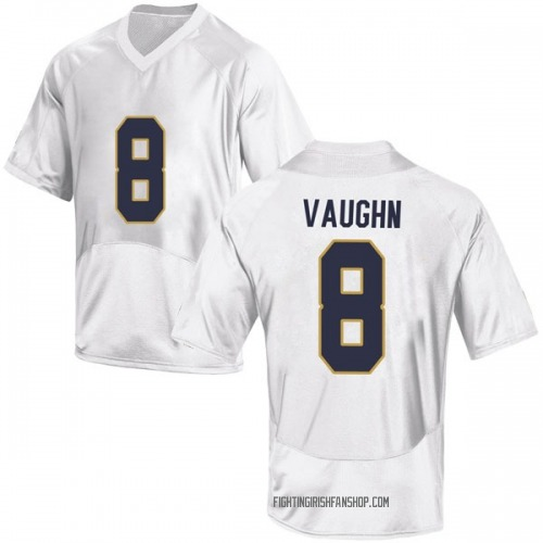 Men's Under Armour Donte Vaughn Notre Dame Fighting Irish Game White Football College Jersey