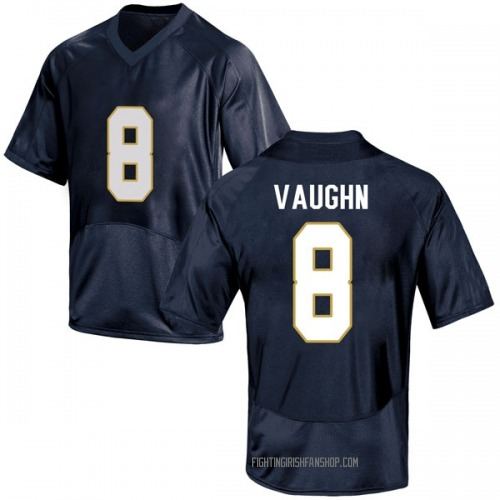 Men's Under Armour Donte Vaughn Notre Dame Fighting Irish Replica Navy Blue Football College Jersey