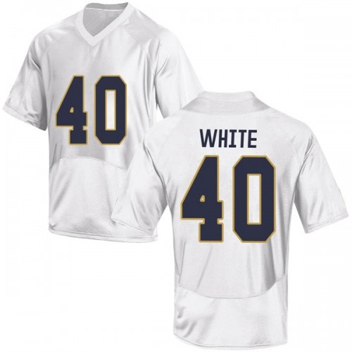 Men's Under Armour Drew White Notre Dame Fighting Irish Game White Football College Jersey
