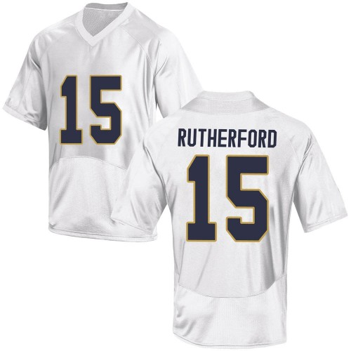 Men's Under Armour Isaiah Rutherford Notre Dame Fighting Irish Game White Football College Jersey