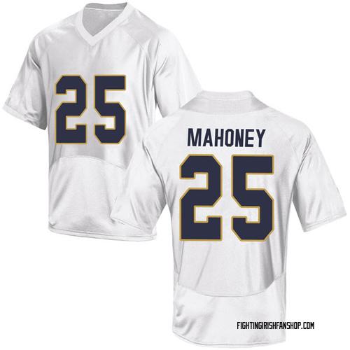Men's Under Armour John Mahoney Notre Dame Fighting Irish Replica White Football College Jersey