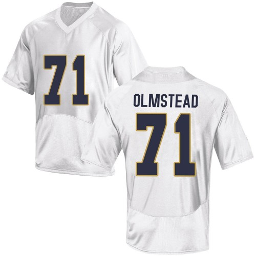 Men's Under Armour John Olmstead Notre Dame Fighting Irish Game White Football College Jersey