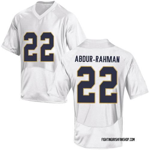 Men's Under Armour Kendall Abdur-Rahman Notre Dame Fighting Irish Game White Football College Jersey