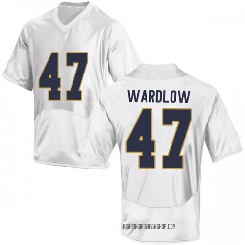 Men's Under Armour Kofi Wardlow Notre Dame Fighting Irish Game White Football College Jersey