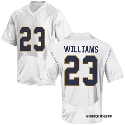 Men's Under Armour Kyren Williams Notre Dame Fighting Irish Replica White Football College Jersey