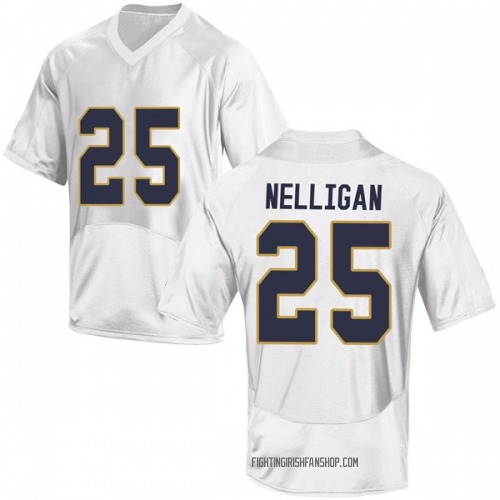 Men's Under Armour Liam Nelligan Notre Dame Fighting Irish Game White Football College Jersey