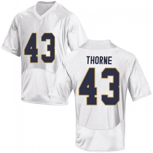 Men's Under Armour Marcus Thorne Notre Dame Fighting Irish Replica White Football College Jersey