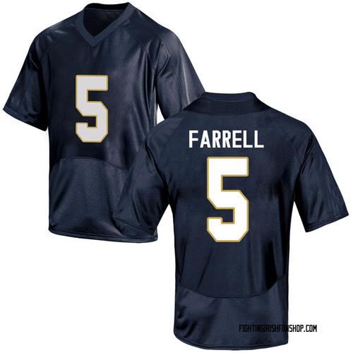 Men's Under Armour Matt Farrell Notre Dame Fighting Irish Game Navy Blue Football College Jersey