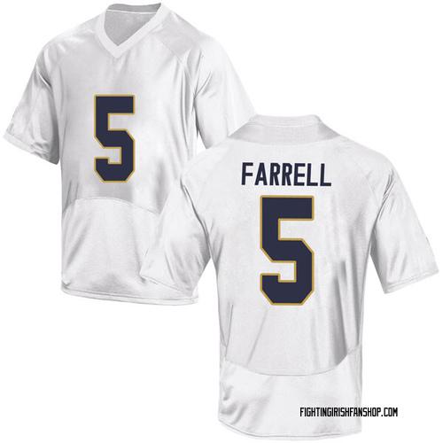 Men's Under Armour Matt Farrell Notre Dame Fighting Irish Game White Football College Jersey