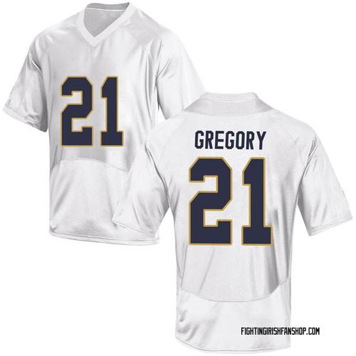 Men's Under Armour Matt Gregory Notre Dame Fighting Irish Replica White Football College Jersey
