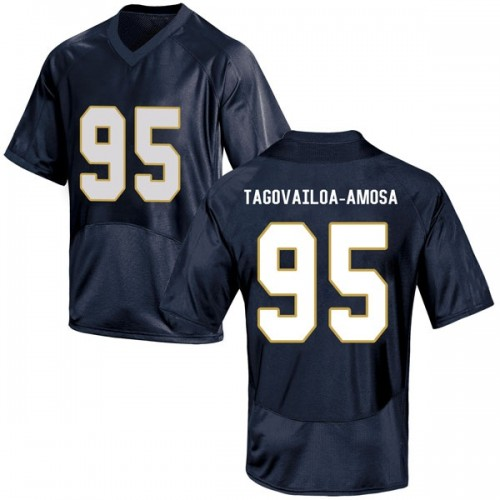 Men's Under Armour Myron Tagovailoa-Amosa Notre Dame Fighting Irish Game Navy Blue Football College Jersey