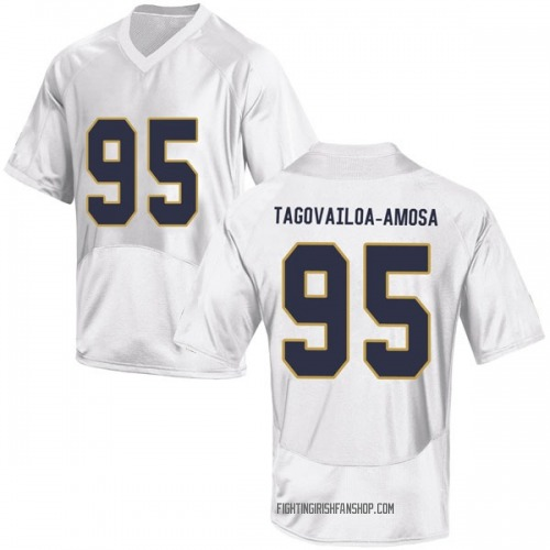 Men's Under Armour Myron Tagovailoa-Amosa Notre Dame Fighting Irish Game White Football College Jersey