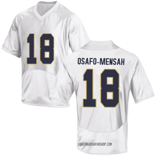 Men's Under Armour Nana Osafo-Mensah Notre Dame Fighting Irish Game White Football College Jersey