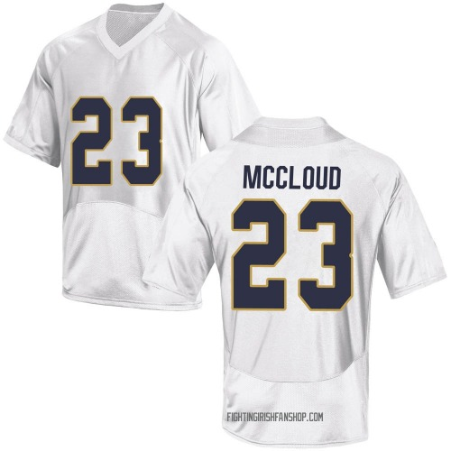 Men's Under Armour Nick McCloud Notre Dame Fighting Irish Game White Custom Football College Jersey