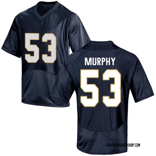 Men's Under Armour Quinn Murphy Notre Dame Fighting Irish Game Navy Blue Football College Jersey